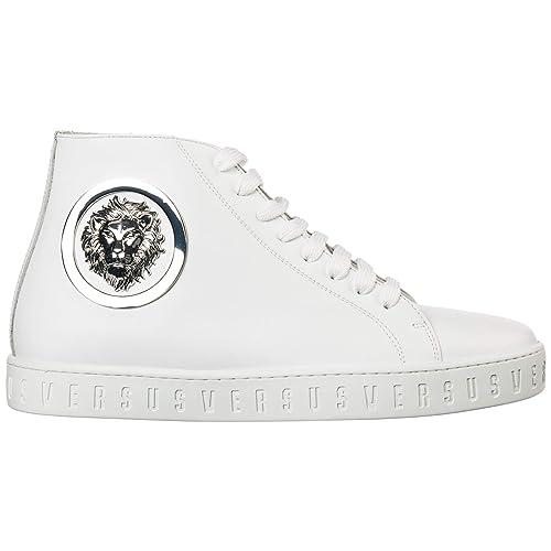 grande sconto del 2019 bene orologio Versus Versace Sneakers Alte Lion Head Uomo Optic White ...