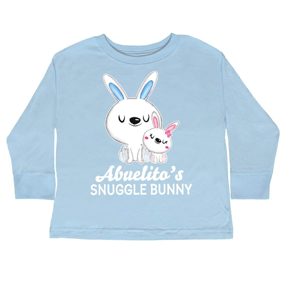 inktastic Abuelitos Snuggle Bunny Easter Toddler Long Sleeve T-Shirt