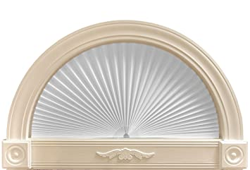 Original Arch Light Filtering Pleated Paper Shade White 72 x 36