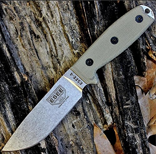 - ESEE 4P Knife Stainless Steel Molle Back