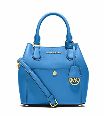 afd90ab9114d Amazon.com  Michael Kors Greenwich MEDIUM Saffiano Leather Satchel HERITAGE  BLUE  NAVY   Shoes