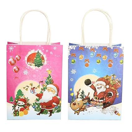 Amazon.es: Toyvian Bolsas de Regalo de Papel navideño ...