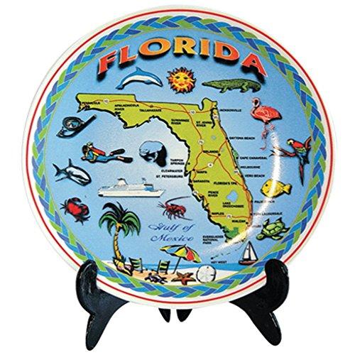Plate Souvenir Wall (Plate Florida Blue Map Souvenir and Gift 8
