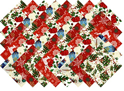 Christmas Favorites Holiday Collection 40 Precut 5-inch Quilting Fabric Squares