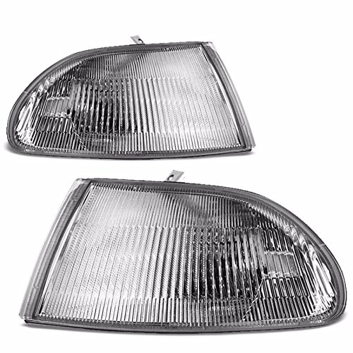 Chrome Housing Clear Lens Reflector Corner Light/Lamp For Honda 92-95 Civic Sedan EG8 EG9 (Clear Corner Lenses Lights)