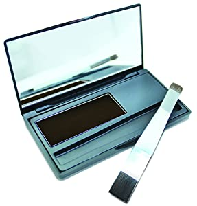 1000 Hour Root Cover-Up Brush-On Tinted Powder Water Resistant 4 Colors! (Black)