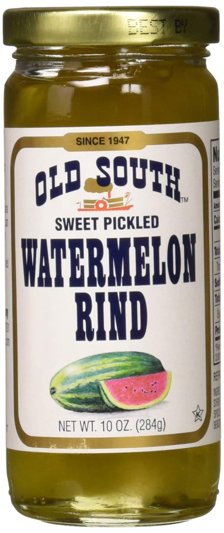 Old South Sweet Pickled Watermelon Rind 10 oz Jar (6 Pack)