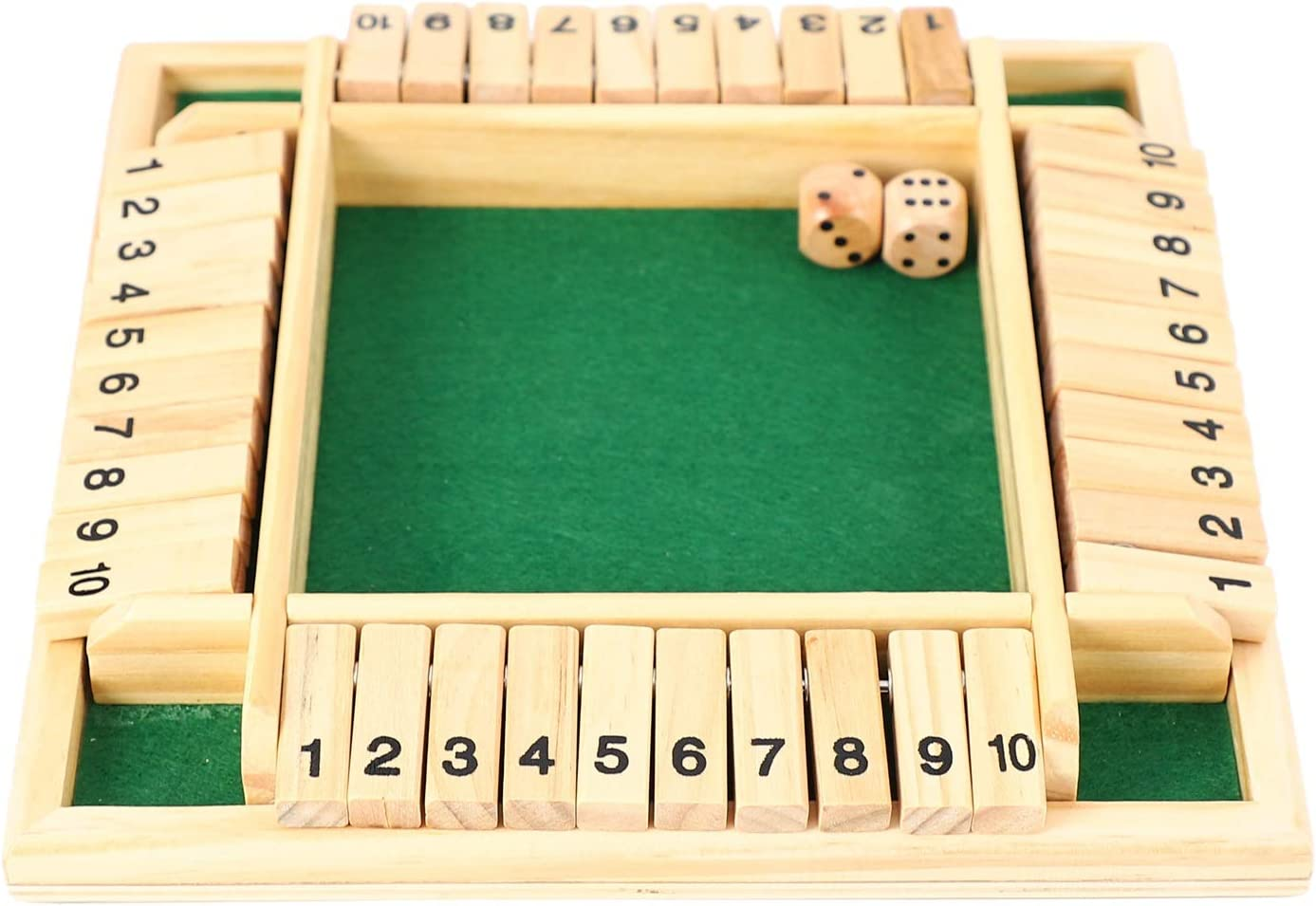 4 Players Digital Puzzle Board Game Shut The Box Game Set Number Drinking GaN7Z6