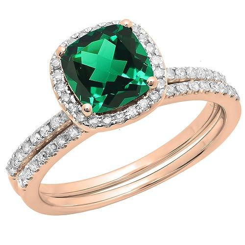 Dazzlingrock Collection - Juego de anillos de boda de halo ...