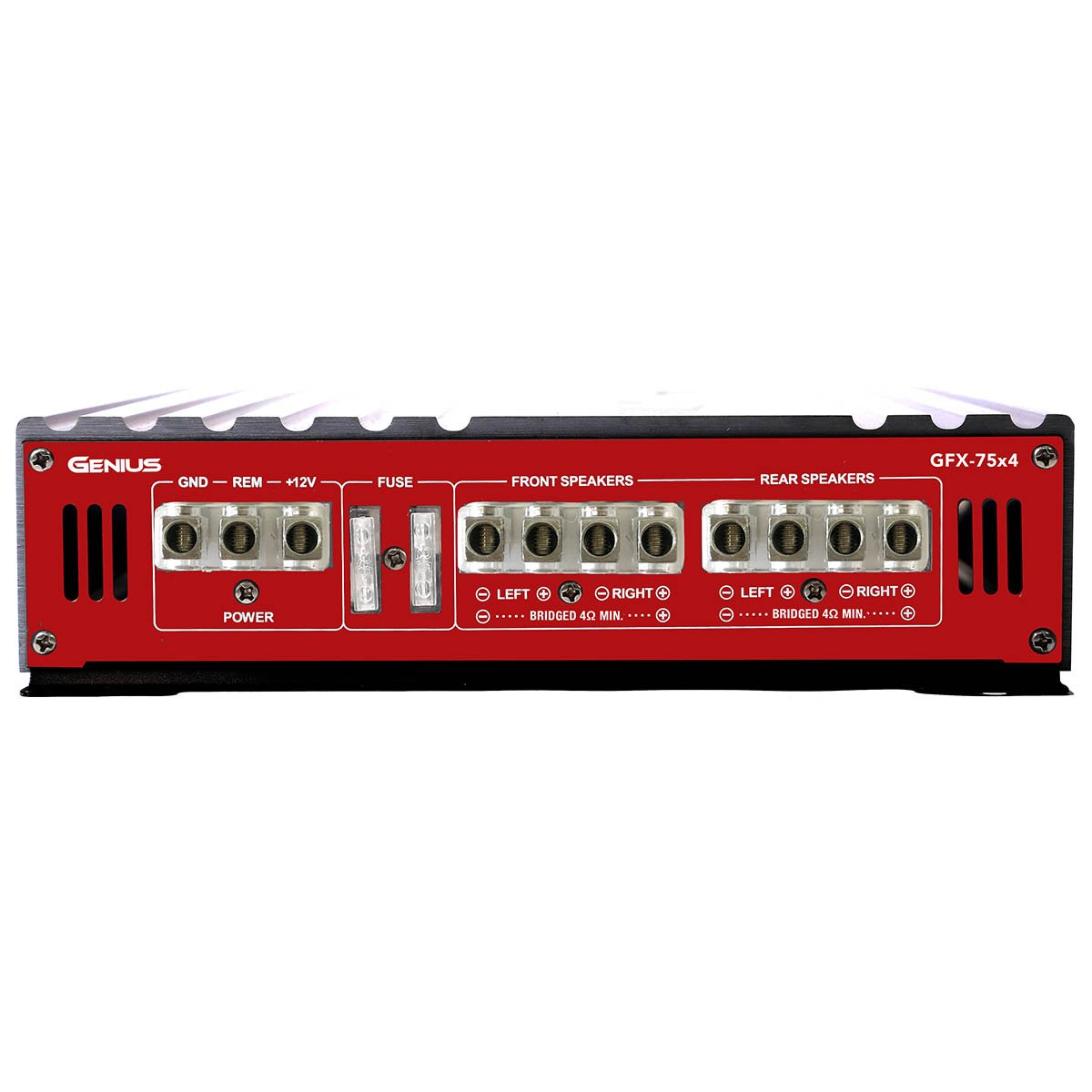 Genius GFX-75X4 1800 Watts-Max Car Amplifier 4-Channels Professional Class-AB 2-Ohm Stable Stereo Aricasa
