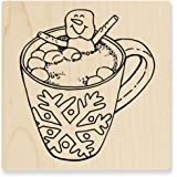 Cocoa Hot Tub Rubber Stamp, Stampendous CRQ249 Cling
