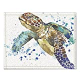 NYMB Sea Animal Lover Watercolor Brick Turtle Bath Rug, Non-Slip Floor Entryways Outdoor Indoor Front Door Mat,60x40cm Bath Mat Bathroom Rugs