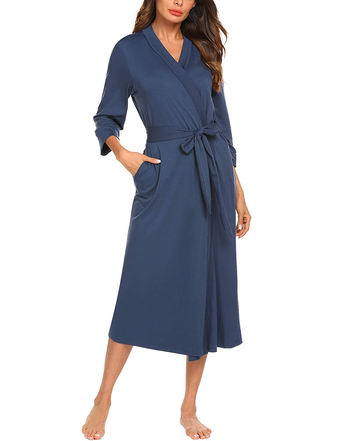 MAXMODA SLEEPWEAR Blue レディース B07G53T29L Blue Small|Long-navy Blue Long-navy Small Blue Small, ラックタウン-収納用品の店-:2abbd9d8 --- office.eforward2.ferraridentalclinic.com.lb