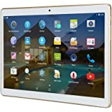 """10 inch Tablet Android 10.1"""" IPS Octa Core 4GB RAM 64GB ROM YELLYOUTH Unlocked Tablet PC with Sim Card Slot Camera GPS WiFi OTG Bluetooth 10"""" - White"""