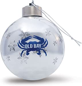 Maryland My Maryland Old Bay Glass Light Up Ornament (Old Bay Crab)