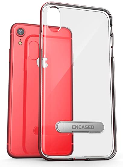 iphone xr clear red case