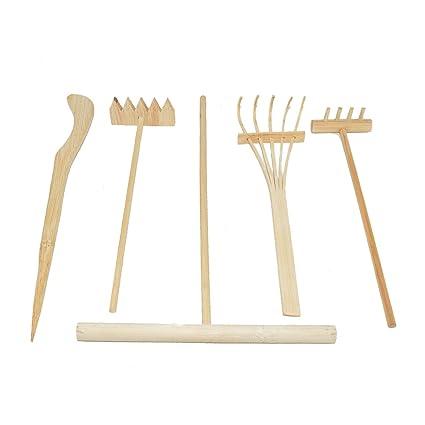 Ordinaire DALAO 5pcs/Set Mini Zen Garden Bamboo Rake Tools, One Push Sand Pen,