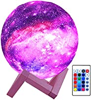 HYODREAM 3D Moon Lamp Kids Night Light Galaxy Lamp 16 Colors LED Light with Rechargeable Battery Touch & R