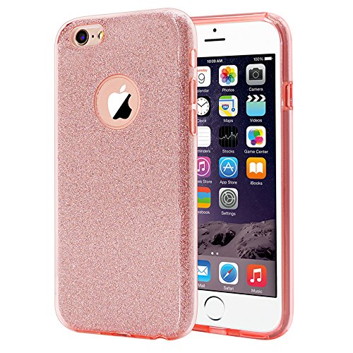 ESR Case for iPhone 6/6s, Luxury Glitter Sparkle Bling Designer Case [Slim Fit, Hard Back Cover] Shining Fashion Style Compatible for iPhone 6/6s 4.7 (Pink)
