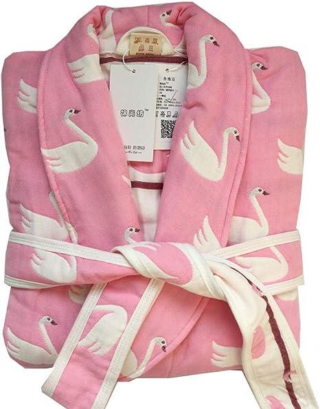 lxylllzs Vestidos De Mujer Bata Batas De Felpa,Hilo de algodón para Adultos,Ropa De Dormir Material Forro Polar: Amazon.es: Hogar