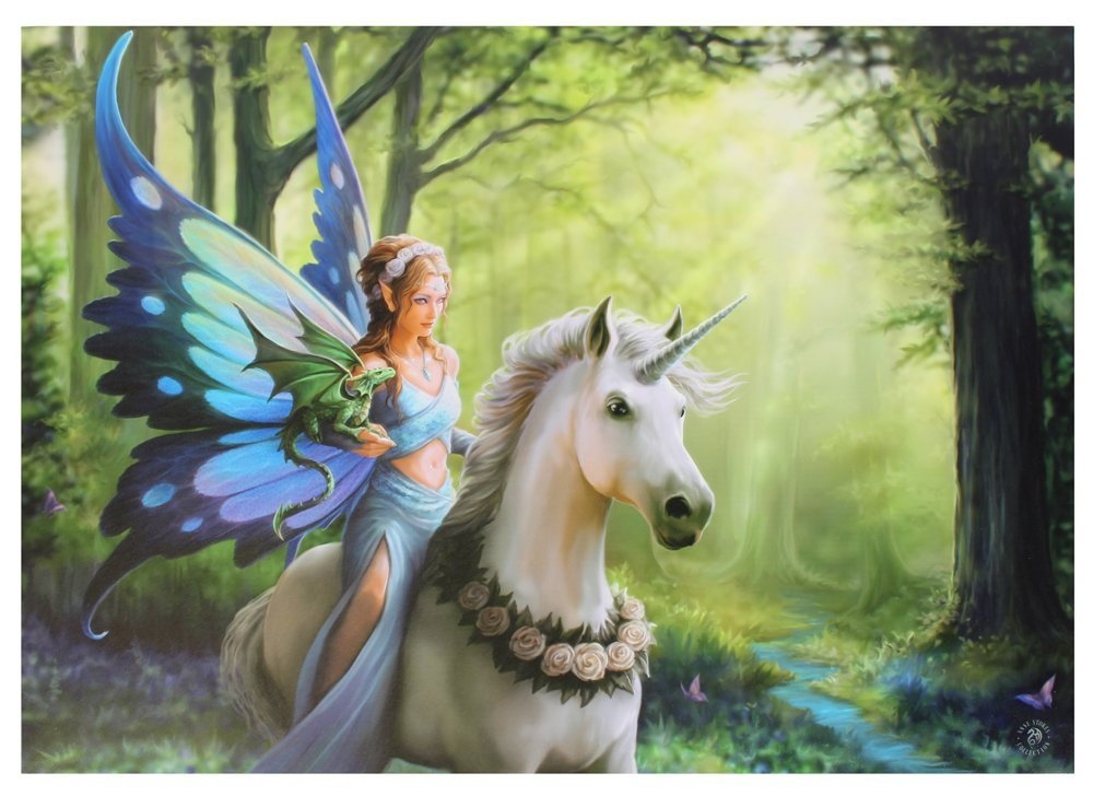 ANNE STOKES Realm Of Enchantment Wall Art, Multi-Colour, 50 x 70 cm Something Different Wholesale WP_03635