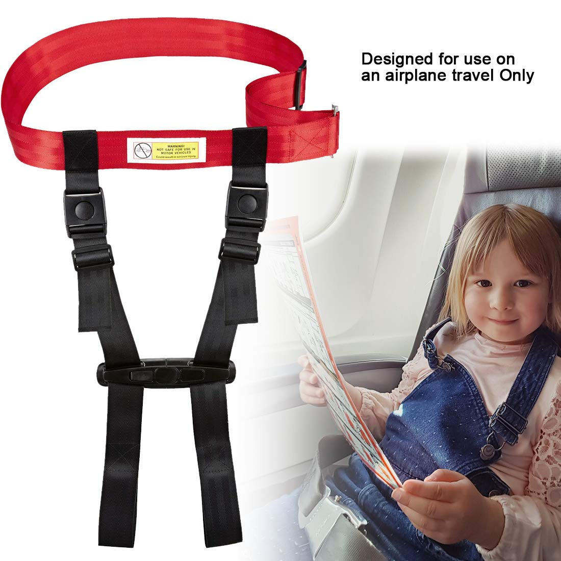 Child Airplane Travel Harness Safety Clip Strap Restraint System for Baby, Toddlers & Kids- for Airplane Travel Use Only by Together-life (Image #5)