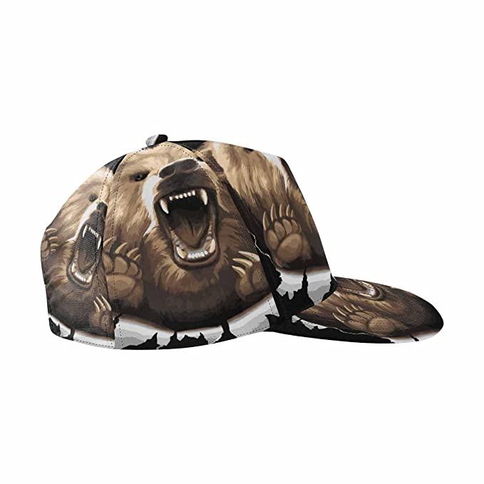 c3c1b5e21f639 Image Unavailable. Image not available for. Color  INTERESTPRINT Angry Bear  Roaring Unisex Baseball Cap