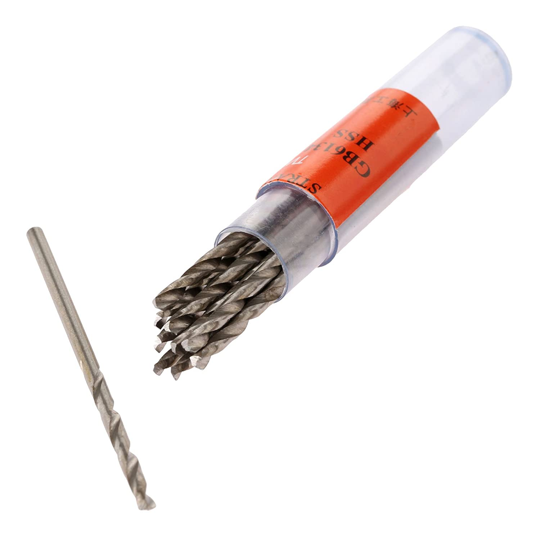 Mtsooning 10 Pcs 0.5mm Micro HSS Twist Drill Bit Straight Shank Electrical Drilling Tool Buildamznuk0893