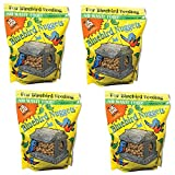 C & S Products Blue Bird Nuggets Plus Beef Suet,Corn,Peanuts, Pack of 4