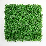 ULAND 20''x20'' Light Green Artificial Boxwood Hedge Mat For Indoor/Outdoor Decor Office Buildings Greenery Covering (Pack of 6pcs/16.68sq.ft; Pack of 12pcs/33 sq.ft) (6)