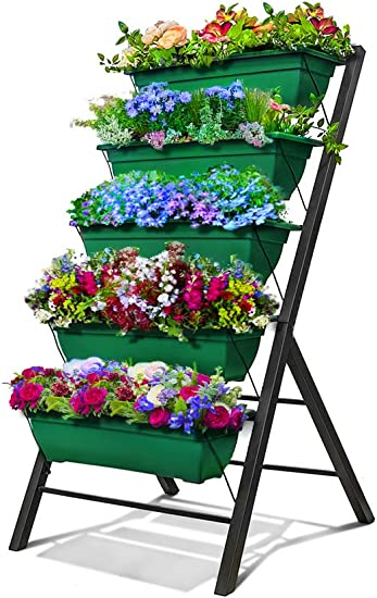 4-Ft Raised Garden Bed - Vertical Garden Freestanding Elevated Planters on