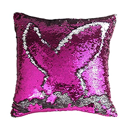 TRLYC Black and Green Heart Shape Magical Cushion Case Reversible Sequin Pillow Case for Home Bed Sofa including Pillow Insert-13x 15inch