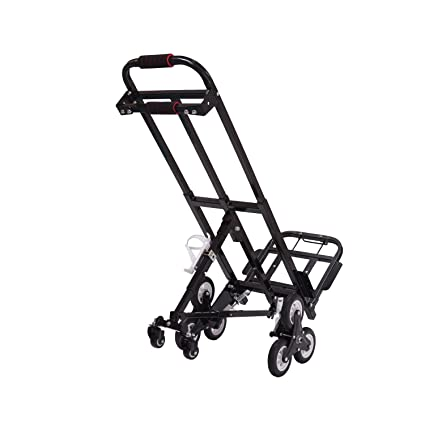 Mecete Enhanced Stair Climbing Cart Portable Climbing Cart 460lb Largest  Capacity All Terrain Stair Climbing Hand Truck Heavy Duty with 6 Wheels