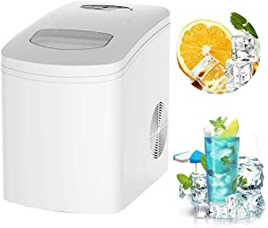 STARAYS Countertop Ice Maker, Portable Silent Ice Cube Maker, 22 Lbs / 24 Hours, 9 Bullet Ice / 7-10 Minutes, with Ice Shovel, Restaurant Bar