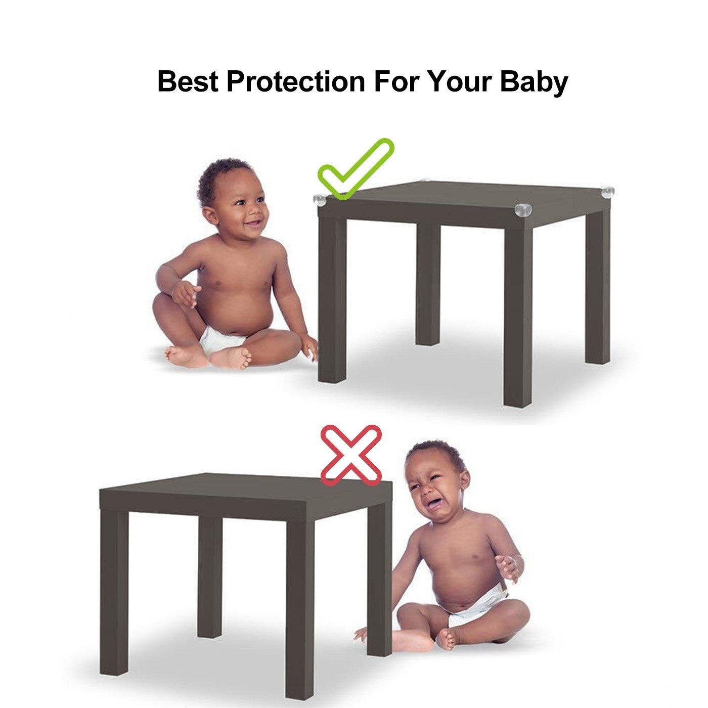 JRing 20Pcs Tisch-Ecken-Schutz-Sicherheits-Ecken-Schutz-Schutz f/ür Kind und Baby