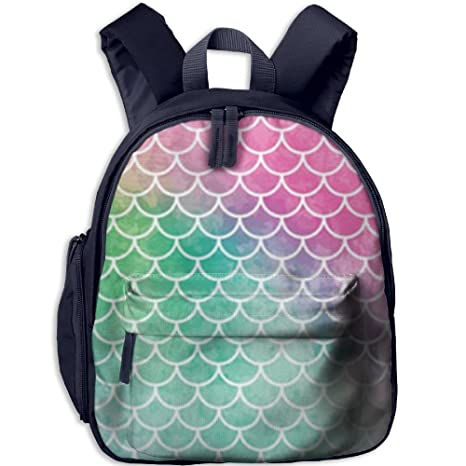 74507b41cc78 Amazon.com: Mermaid Scale Personalized Book Bag Lovely Animal Kid's ...