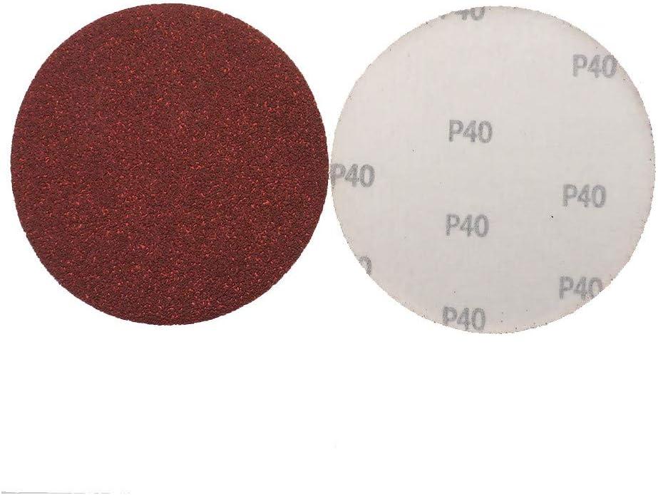 20pcs 6 Inch 150mm Round Red Sandpaper Disk Sand Sheets Grit 40-2000 Hook Loop Sanding Disc Self Adhesive for Sander Grits,60 1500