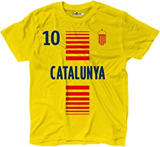 KiarenzaFD T-Shirt Hommes National Sportif Catalogne Catalunya 10 Football Sport Europe Bandiera 2 Streetwear Shirts
