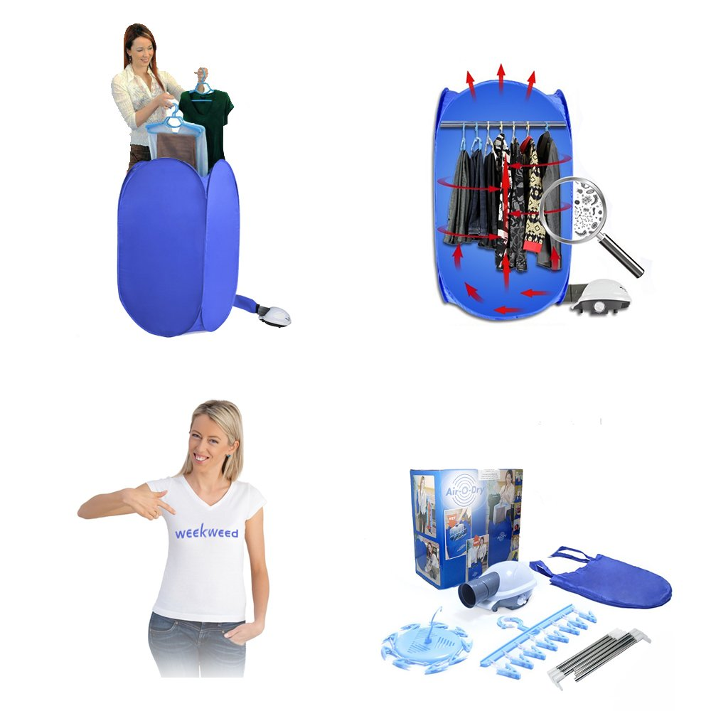 Small Clothes Dryer ~ Compact portable folding electric air drying clothes dryer