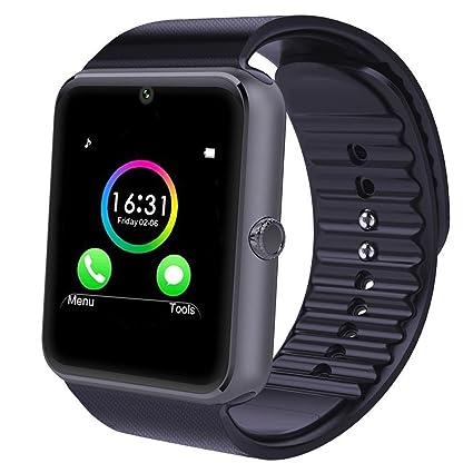 YAMAY® Smart Watch Reloj Inteligente Deportes reloj teléfono con SIM tarjeta/TF Función /Cámara/TEXT/WhatsApp/Contador de pasos/Monitor de sueño/Despertador ...