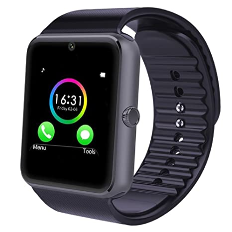 YAMAY® Smart Watch Reloj Inteligente Deportes reloj teléfono con SIM tarjeta/TF Función /