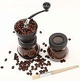 Cooko Manual Coffee Grinder, Premium Adjustable Ceramic Burr Grinder, Grinder for Coffee Bean or Spices,Delicate Household, Travel, or Camping Grinder.