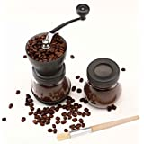 Cooko Manual Coffee Grinder, Premium Ceramic Burr Hand Crank Grinder,Large Coffee Mill for Espresso Bean