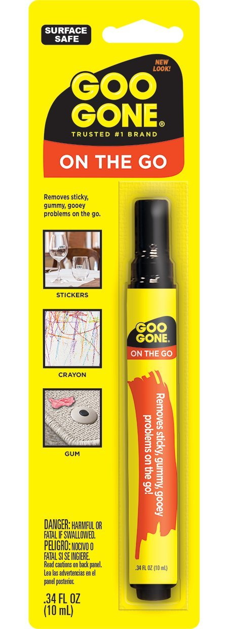 Goo Gone On The Go Pen - Adhesive Remover - Removing Spots And Stains From Clothing Surface Safe
