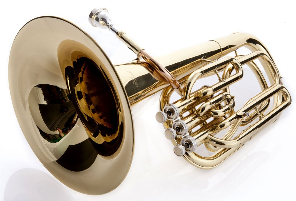 Hawk SBAR Student 3-Valves Lacquered Baritone Horn, Gold by Hawk (Image #3)