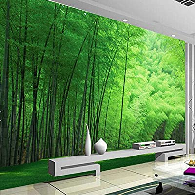Mznm Nature Green Bamboo For Living Room Wall Art Decor Photo Mural Wallpaper Rolls Wall Coverings 3D Wall Murals Wallpaper