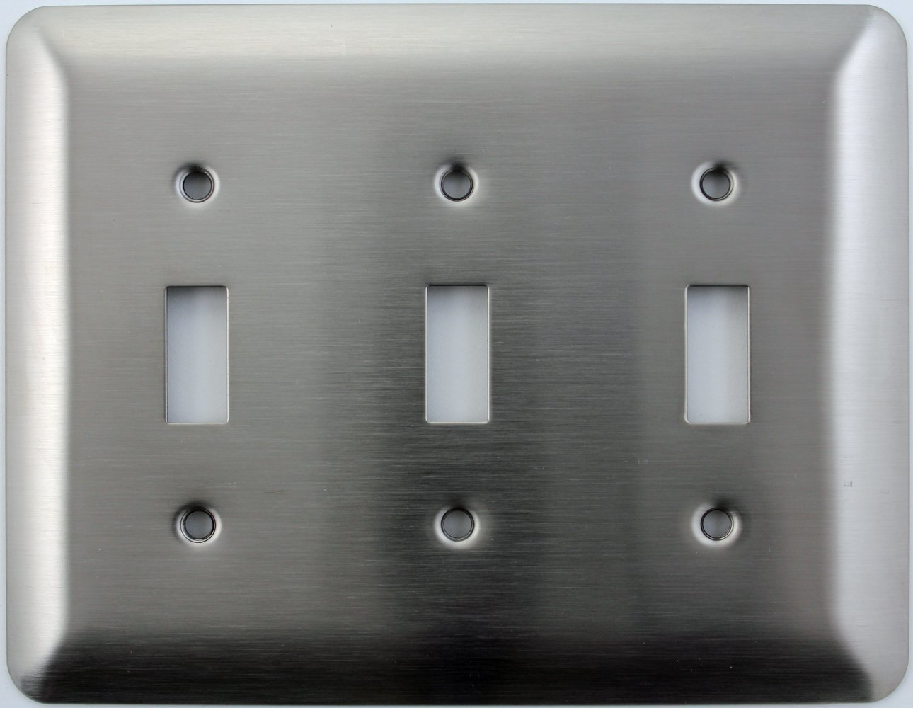 Mulberry Princess Style Satin Stainless Steel Three Gang Toggle Light Switch Wall Plate