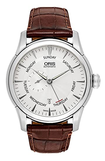 Oris Artelier Automatic Small Second Pointer Day Steel Mens Strap Watch Silver Dial 745-7666