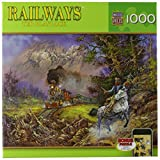 MasterPieces Railways The Holdup of The Old #9 Jigsaw Puzzle, Art by Ted Blaylock, 1000-Piece