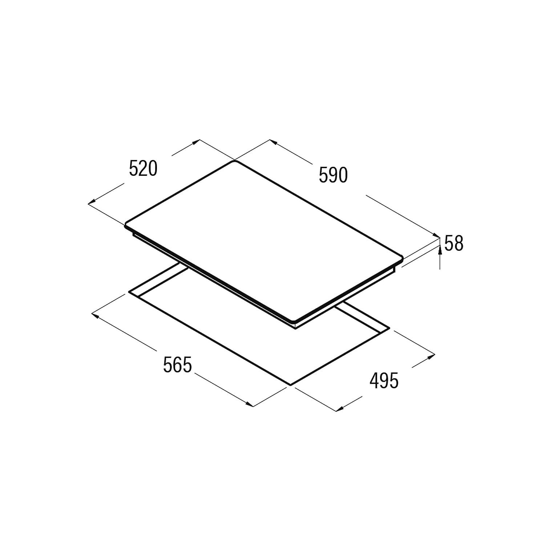 Placa Integrado, Con placa de inducci/ón, Negro, 1200 W, Alrededor, 16 cm CATA IB 6303 BK Integrado Con